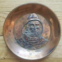 Jennings Brothers JB Fisherman Mariner Bronze Plated vintage Ashtray dish #2873