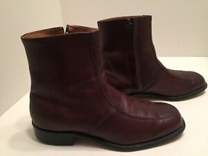 O'Sullivan Mens Reddish Brown Leather Ankle Boots Size 9 EEE