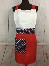 USA America Apron Size OSFA Red White Blue Design Handmade