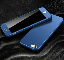 360° Full Cover Hybrid Shockproof Case + 9H Tempered Glass For iPhone SE 5 5S