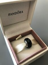 Black Faceted Genuine PANDORA murano charm