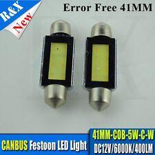 1x Error Free White LED Bulbs 41mm COB 3W Festoon Dome Map Light Bulbs 12V 400LM