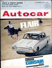 Autocar Magazine 8 November 1963 Ford Consul Corsair VGEX 121915jhe