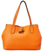 NEW Longchamp Roseau Essential Medium Orange Leather Tote - $695