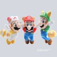 "Super Mario Bros. Plush Fly Raccoon Mario Kitsune Fox Luigi Toy Stuffed Doll 8"""