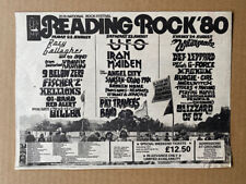 More details for reading rock 1980 iron maiden/def leppard/ufo/ozzy memorabilia original music pr