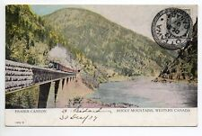 CANADA carte postale ancienne FRASER CANYON Train in rocky mountains western can