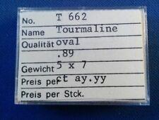 Brilliant Green Tourmaline 5 X 7 Oval Cut .89 CT New Old Stock t-662