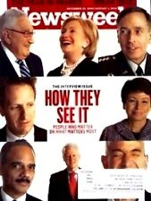 Newsweek 12/28/09 Interview Issue/Hillary Clinton/David Petraeus/James Cameron