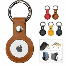 For Apple AirTag Leather Protective Sleeve Locator Anti-lost Device Keychain