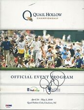 RORY McILROY Signed Quail Hollow Championship Magazine - PSA/DNA # Y35006
