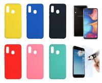 """Ultra Soft Silicone Rigid Case Cover For Samsung Galaxy A20E (4G) 5.8"""""""