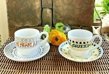 Mary Engelbreit 2 Cup Saucers Home is Where The Heart Is & It's Good to Be Queen