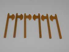 Lego Minifigure Lot Of 6 Weapons Halberd Pearl Gold W8