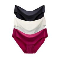 3 Pack Women Seamless Soft Ultra Thin Briefs Panties Hipster Underwear Lingerie