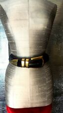 Women Faux Mink Belt with Gold buckle and Loop  Size Small/Medium