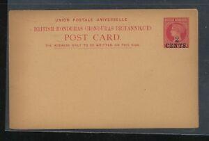 British  Honduras  revalued  postal card   unused     MS1227