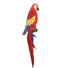 72cm Hansa Scarlet Macaw Parrot Realistic Cuddly Soft Animal Stuffed Plush Toy