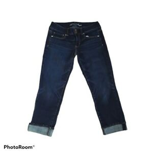 American Eagle Darkwash Crops Artist Jeans Womens Size 6