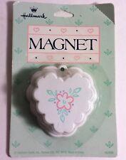 Hallmark Magnet Mini Heart-Shape Floral Bundt Pan ~ Kitchen Baking Refrigerator