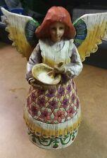 "Jim Shore Angel of Contentment Heartwood Creek 2002 B108923 Wood Figurine 9"""