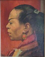 Clifford HALL (British 1904-1973) Authentic Oil Painting of a Jamaican Lady