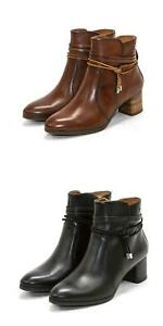 NEW Pikolinos Womens Booties Calafat Leather Zip-Up Shoes Ankle Boots