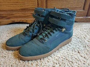 Size US 12 Puma Sky Contact High Top Suede Sneakers Green