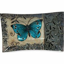 AngelStar 19051 Butterfly 12 in. Rectangle Plate,  Cozenza Collection