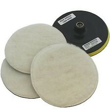 "7"" POLISHER/BUFFER SOFT WOOL BONNET & PAD with HOOK & LOOP for POLISHING/BUFF..."