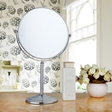 8 INCH Double Sided 1x & 3x Magnifying Free Standing Make Up Mirror Chrome