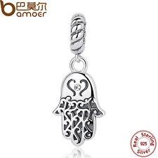 Bamoer S925 Sterling Silver Charms Palm Pendant Fit Bracelets Jewelry hot