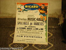 Jolie ancienne affiche, Ricard, Rugby