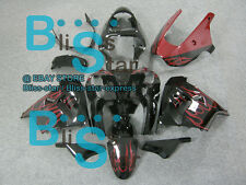 Red Flames Fairing Bodywork Plastic Set Kawasaki Ninja ZX9R 2000-2001 31 C4