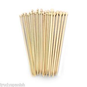 bambù Da Magli Ferri Singolo Appuntito 23cm o 34cm lunghezza 1 Coppia