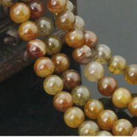 "15"" Round Loose 6/8/10mm  Gemstone dragon Spaceragate Beads Natural Tea"