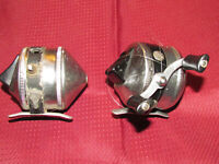 ZEBCO Spinner Model 33 Fishing Reels (2) Vintage USA Made / ONE Great! ONE Parts