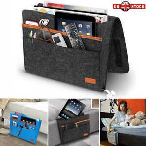Sofa Bedside Storage Hanging Bag Felt Pocket Organizer Remote Control Holder UK