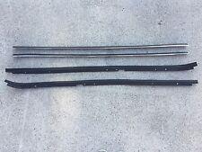 81-88 Regal Cutlass RWD with Wide Chrome NEW 4 pc Door Window Sweeps Felts Kit
