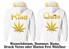 Hoodie Pullover King Queen Motiv Partner Look Geschenk One Love Pärchen XS - 5XL