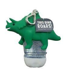 Bath & Body Works Pocket *Bac Holder Clip Green Triceratops Dinosaur Noise Sound
