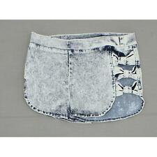 36 Point 5 Ladies Junior Fit Bleach Wash Bow Side Denim Shorts