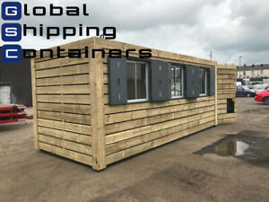 20ft x 8ft Cladded Office, Workshop, Shipping Container (Leeds Area)