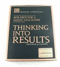 Signed Bob Proctor Thinking Into Results Program for Leaders Training Curriculum