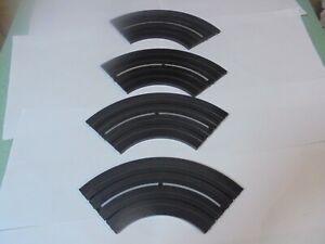 "Lot of 4 Aurora/MM 6"" Radius Curve 1/4 section tracks"