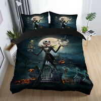 Disney Nightmare Before Christmas Jack Skeleton Zero Duvet Cover Bedding Set