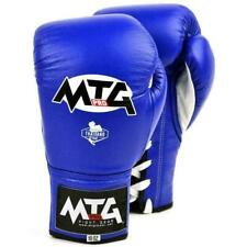MTG Pro Boxing Gloves Blue Lace-up Competition Muay Thai