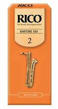 25 Pack Rico Baritone Saxophone Reeds # 2 Strength 2 RLA2520