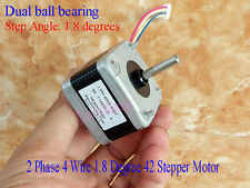 Dual ball bearing 2 Phase 4 Wire 1.8 Degree 42MM Stepper Motor F CNC 3D Printer
