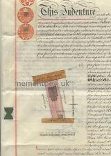 Vellum 1893 Redhill Reigate Surrey map plan William Winchester  Victorian
